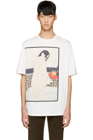 3.1 Phillip Lim - White Graphic T-Shirt