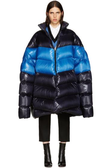 Raf Simons - Navy Down Oversized Coat