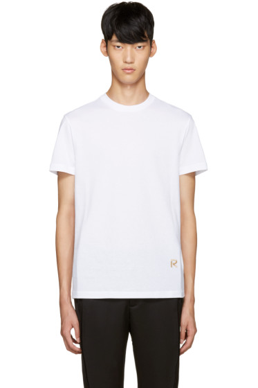 Raf Simons - White Embroidered Logo T-Shirt