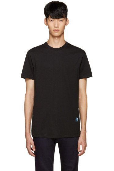 Raf Simons - Black Embroidered Logo T-Shirt