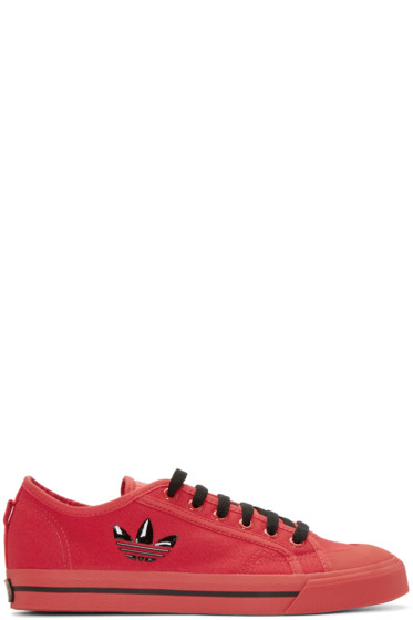 Raf Simons - Red adidas Edition Matrix Spirit Sneakers