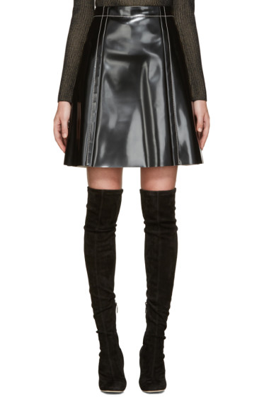 Proenza Schouler - Black Coated A-Line Skirt