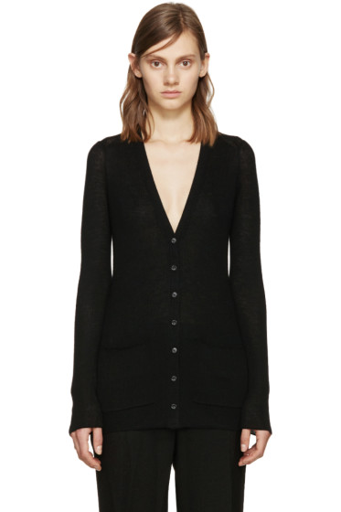 Proenza Schouler - Black Ribbed Knit Cardigan