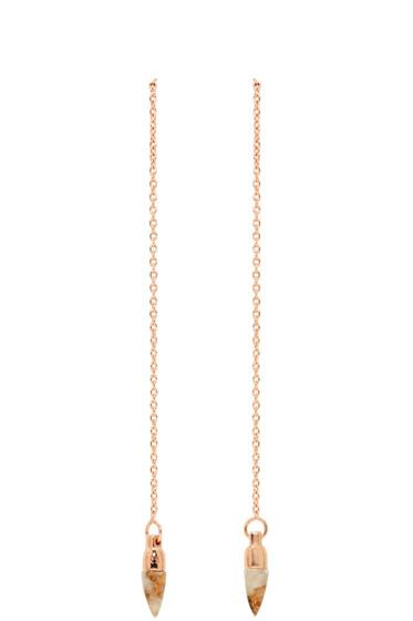 Pamela Love - Rose Gold Suspension Earrings
