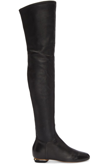 Nicholas Kirkwood - Black Beya Over-the-Knee Boots