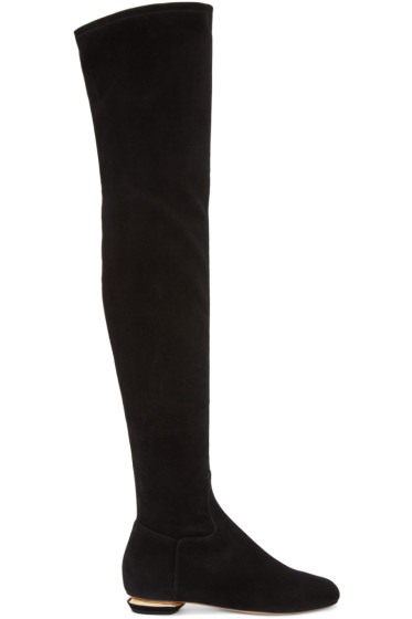 Nicholas Kirkwood - Black Suede Beya Over-the-Knee Boots