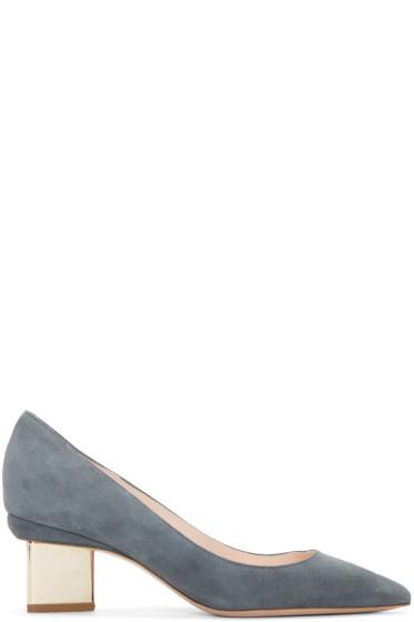 Nicholas Kirkwood - Grey Suede Prism Heels