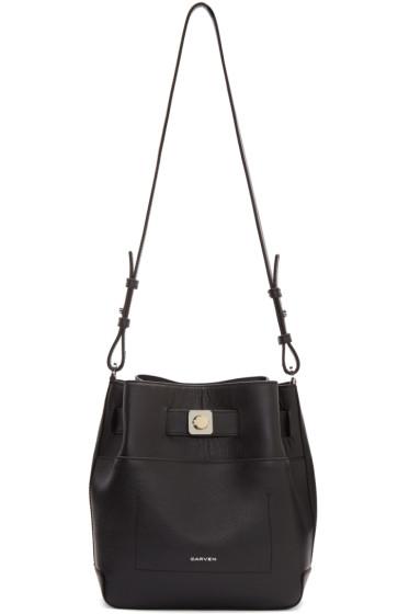 Carven - Black Leather Shoulder Bag