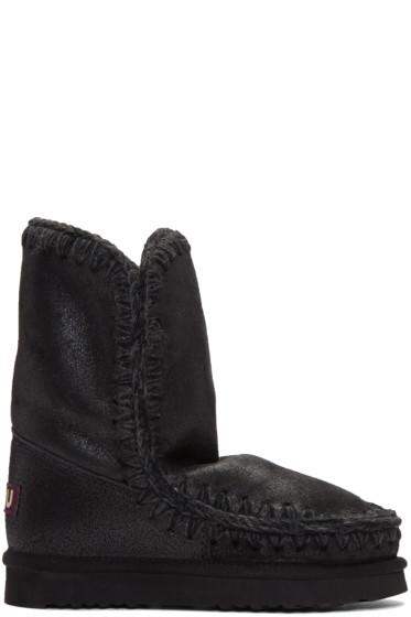 Mou - Black Cracked Eskimo 24 Boots