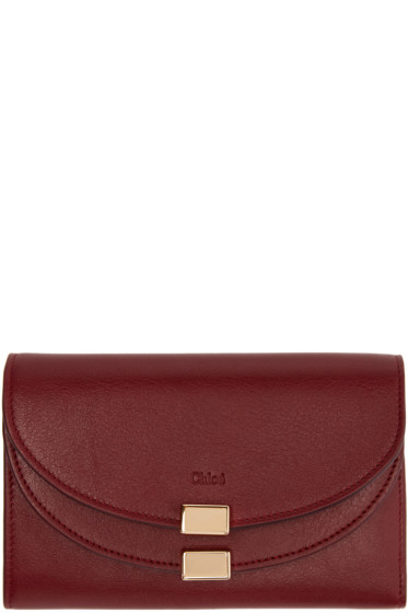 Chloé - Purple Georgia Compact Wallet