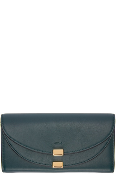 Chloé - Green Long Georgia Flap Wallet