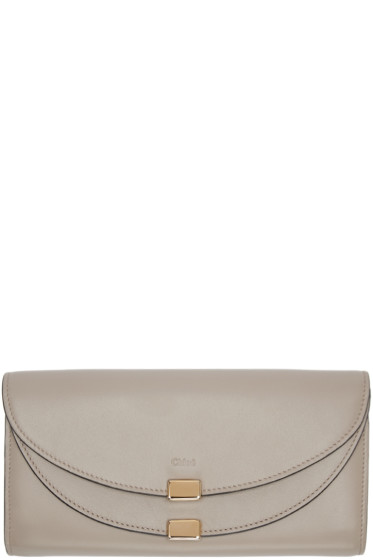 Chloé - Grey Long Georgia Flap Wallet
