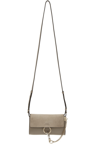 Chloé - Grey Faye Chain Wallet Bag