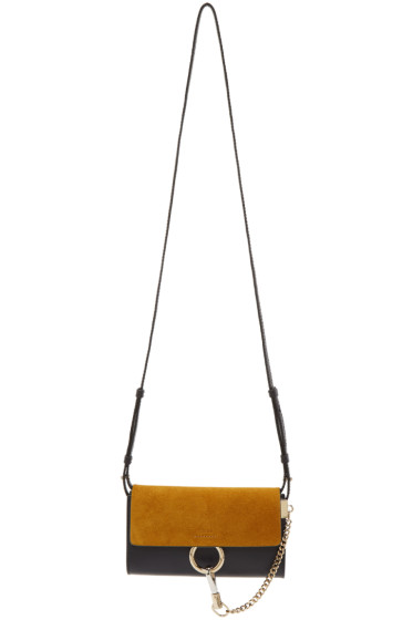 Chloé - Navy & Yellow Faye Chain Wallet Bag