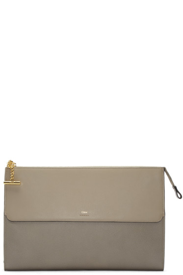 Chloé - Grey Flat Joe Pouch