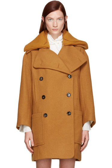 Chloé - Orange Wool Iconic Coat