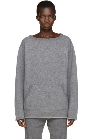 Chloé - Grey Cashmere Pocket Sweater