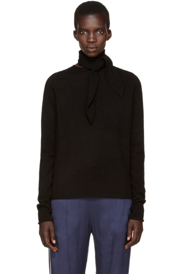Chloé - Black Neck Tie Sweater