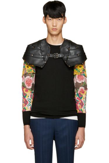 Comme des Garçons Homme Plus - Black Faux-Leather Epaulette Harness