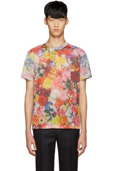 Comme des Garçons Homme Plus - Multicolor Mesh Floral T-Shirt