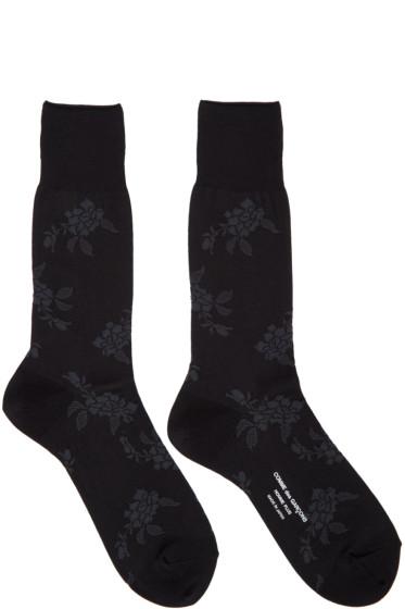 Comme des Garçons Homme Plus - Black & Grey Floral Socks