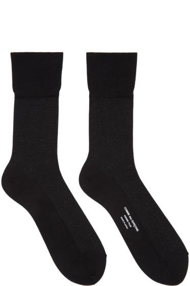 Comme des Garçons Homme Plus - Black Metallic Socks