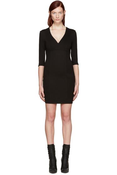 Pierre Balmain - Black V-Neck Dress