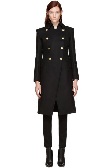 Pierre Balmain - Black Gold Buttons Coat