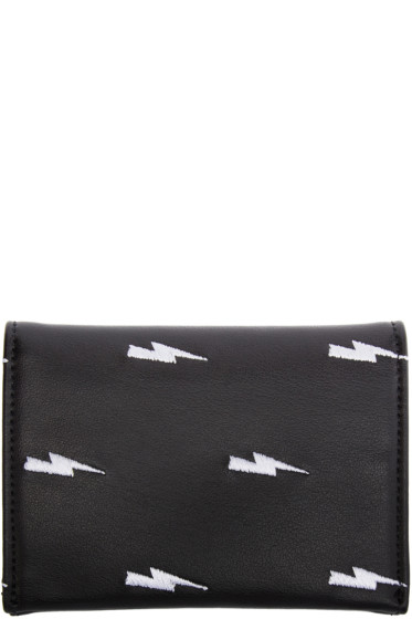 Neil Barrett - Black Thunderbolt Card Holder