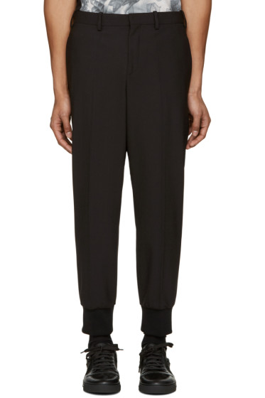 Neil Barrett - Black Ribbed Cuffs Trousers