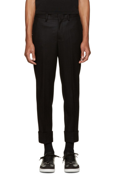 Neil Barrett - Black Slim Wool Trousers