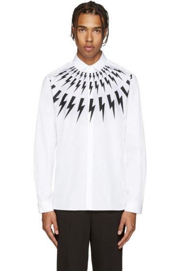 Neil Barrett - White Thunderbolt Shirt