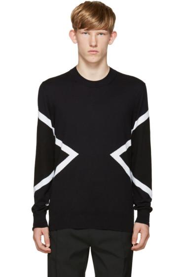 Neil Barrett - Blue & Black Modernist Sweater
