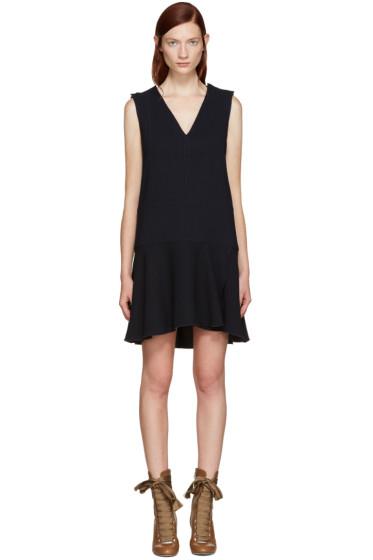 See by Chloé - Navy V-Neck Dress