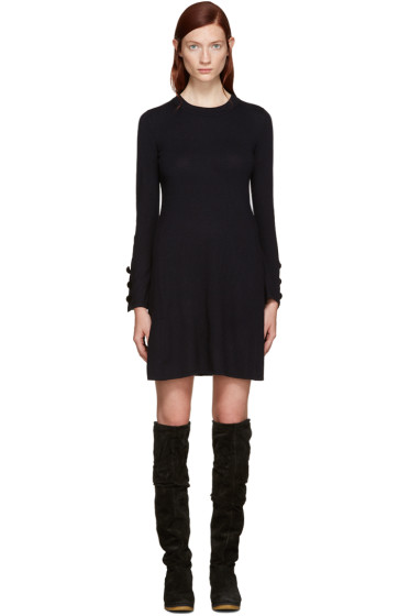 See by Chloé - Navy Wool Dress