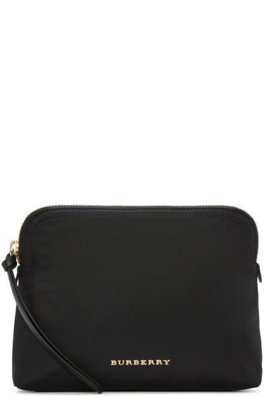 Burberry - Black Logo Cosmetic Case