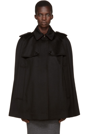 Burberry - Black Cashmere Wolseley Cape