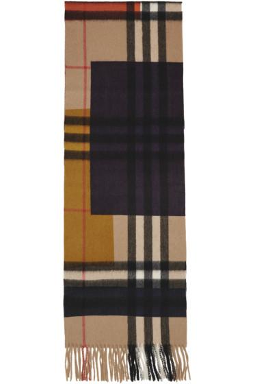 Burberry - Multicolor Cashmere Colorblock Scarf