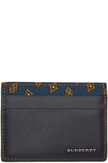 Burberry - Navy Sandon Card Holder