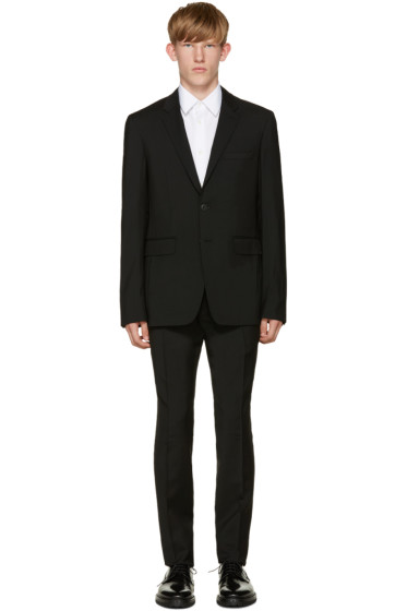 Burberry - Black Wool Suit