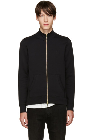 Burberry - Black Sheltone Zip-Up Sweater