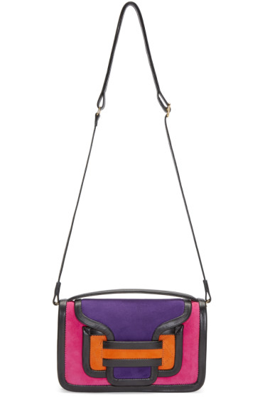 Pierre Hardy - Multicolor Suede Alpha Crossbody Clutch