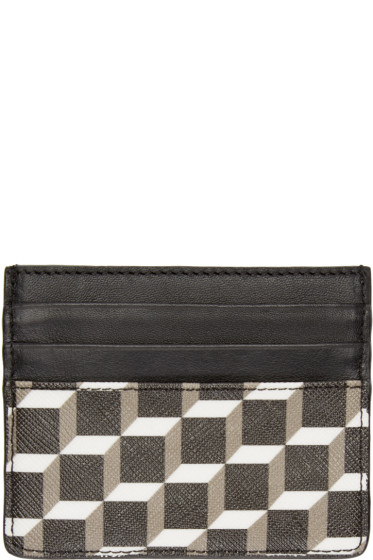 Pierre Hardy - Tricolor Perspective Cube Card Holder