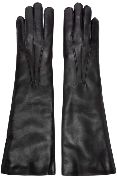 Ann Demeulemeester - Black Short Joris Gloves