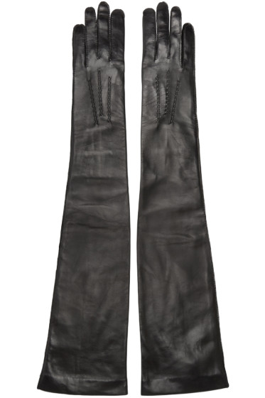 Ann Demeulemeester - Black Long Joris Gloves