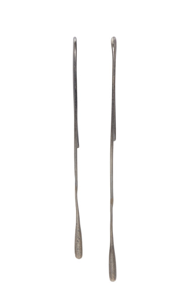 Ann Demeulemeester - Gunmetal Drop Earrings