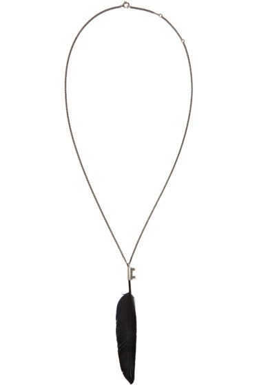 Ann Demeulemeester - Silver Feather Pendant Necklace