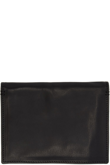 Ann Demeulemeester - Black Leather Jacky Passport Holder