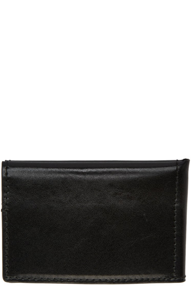 Ann Demeulemeester - Black Bifold Card Holder