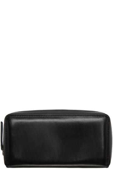 Ann Demeulemeester - Black Leather Zip Wallet